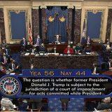 Senat SAD izglasao da je suđenje o opozivu Trampu u skladu sa Ustavom 12