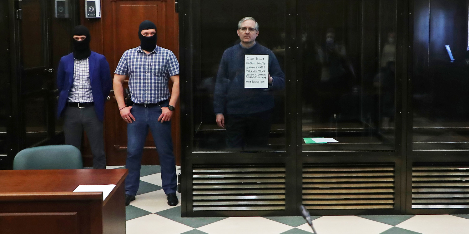 Paul Whelan in the Moscow courtroom