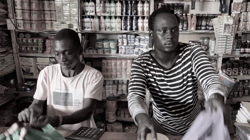 A grocery shop in Kakuma