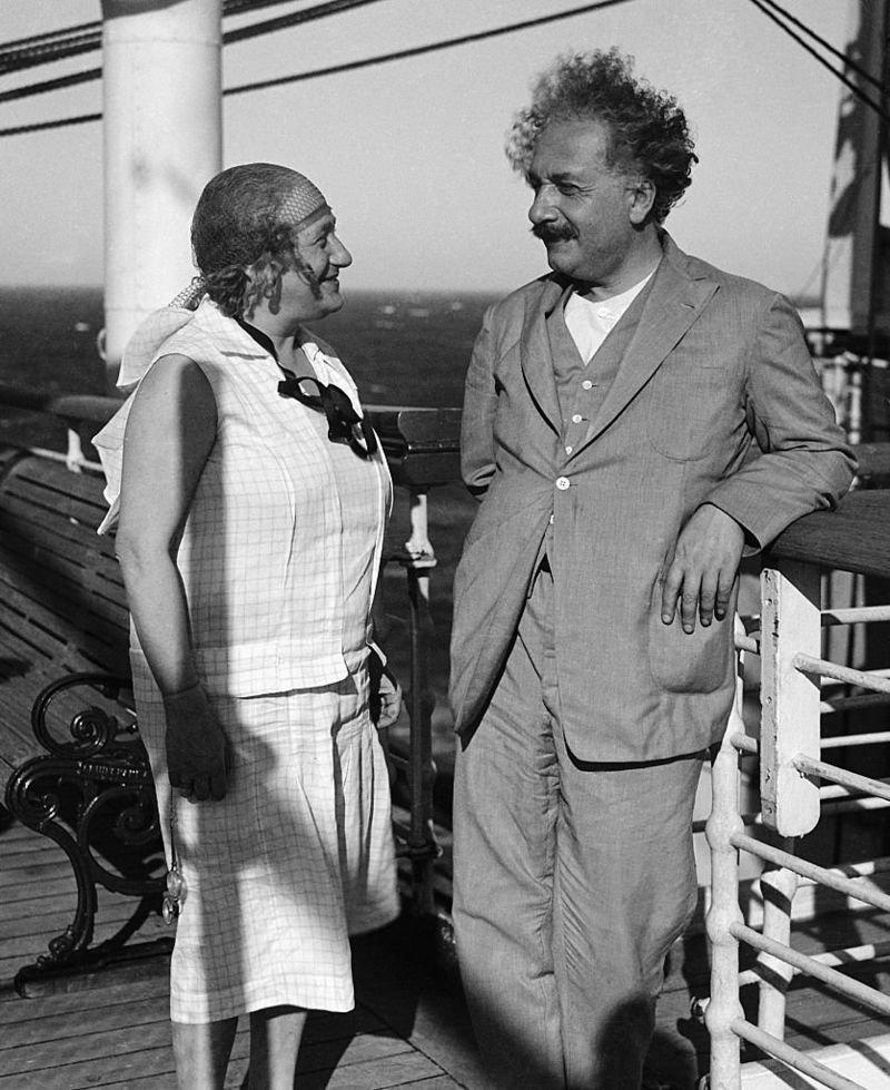 Elsa and Albert Einstein