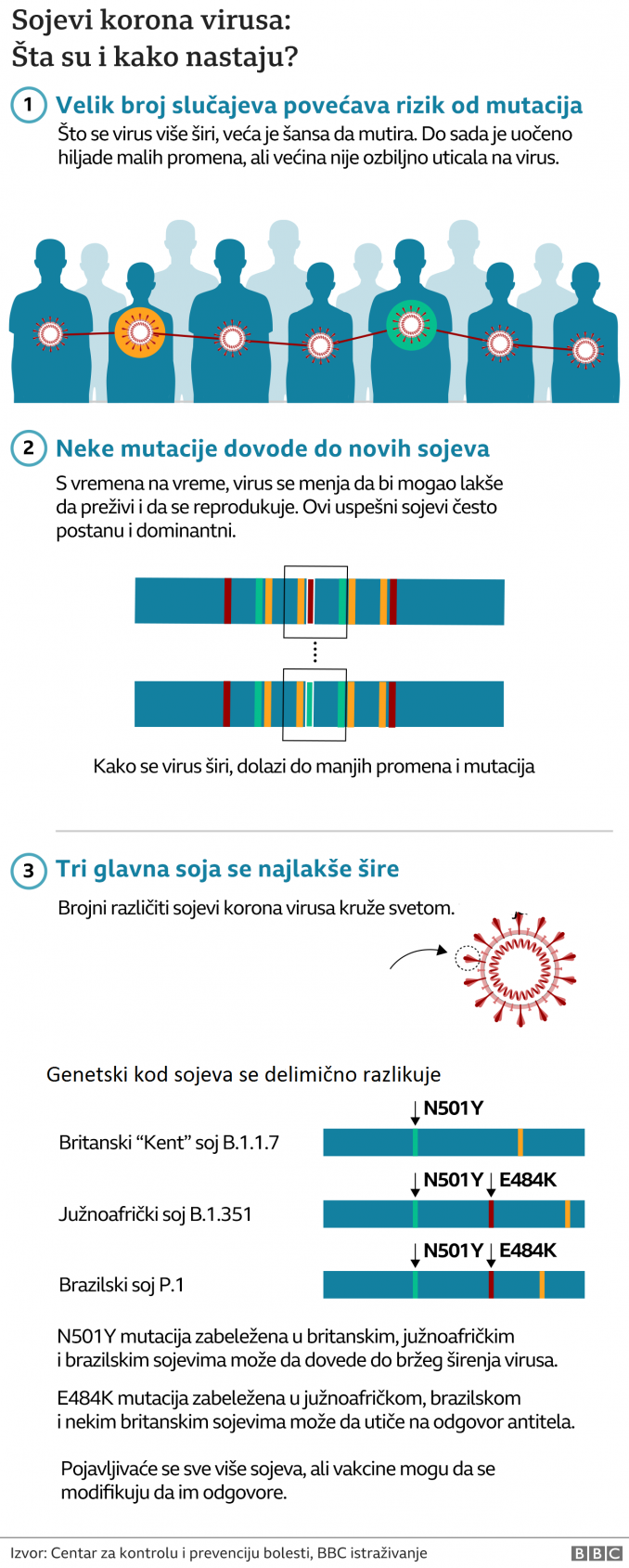 Korona virus: Još 16 umrlo u Srbiji, novi skok broja zaraženih, brazilski soj virusa u Britaniji za novu brigu 4