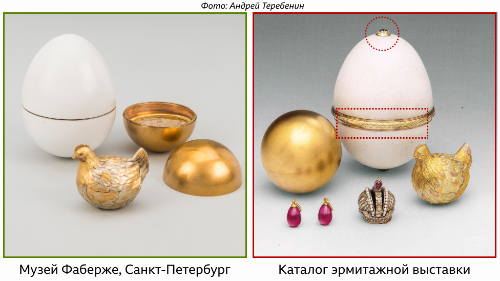 Эksponatы v Эrmitaže i Muzee Faberže