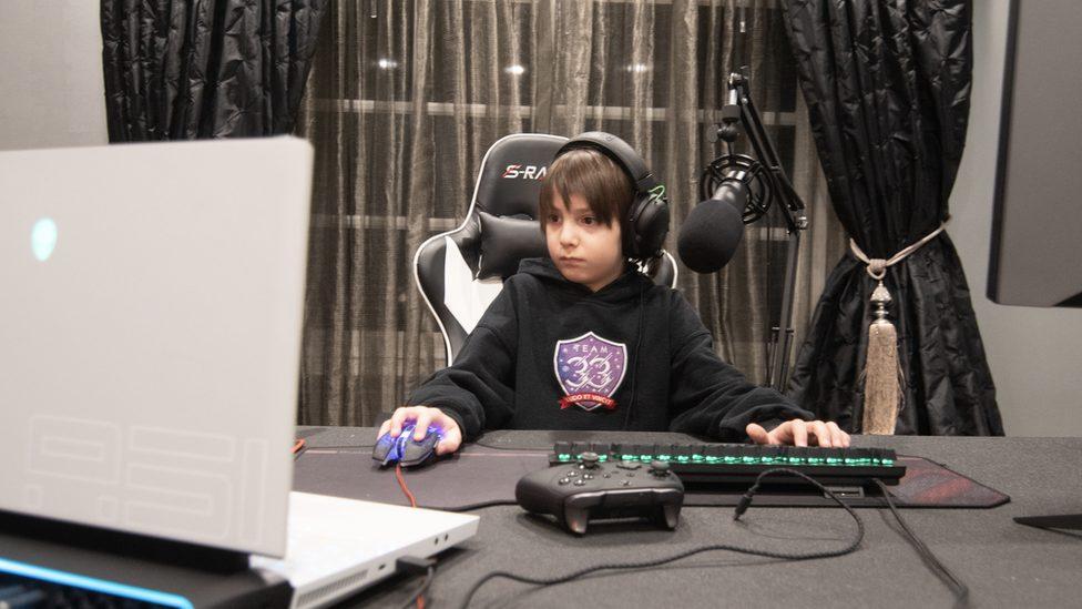 Joseph Deen at his computer