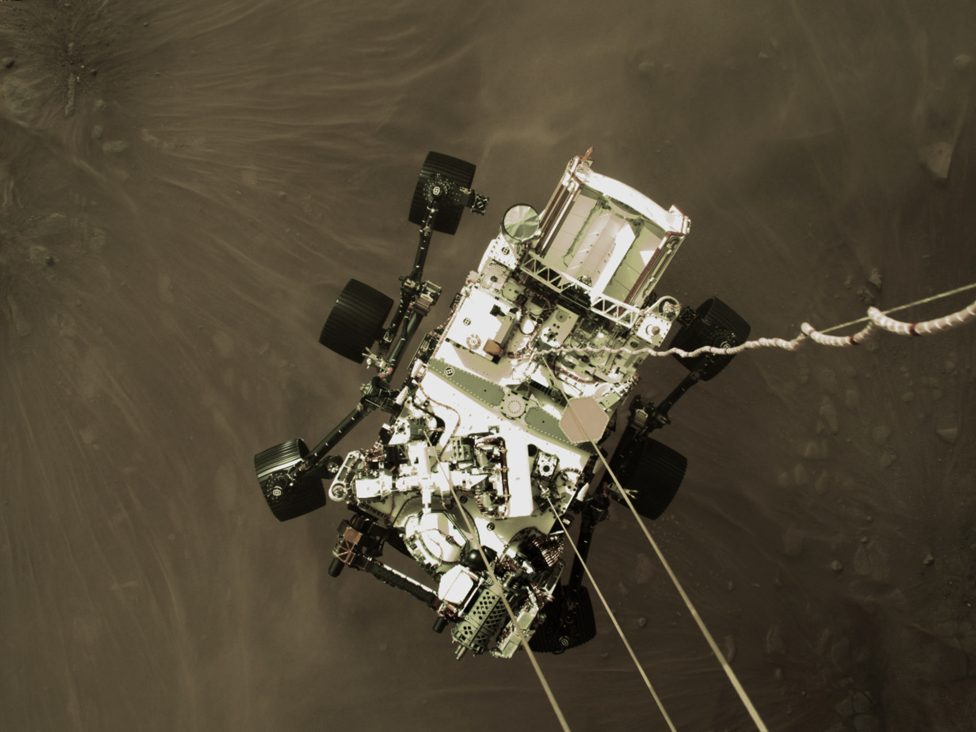 Mars Perseverance Descent Stage Down-Look Camera image