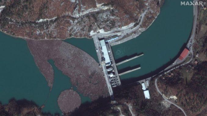 Balkan, reke i zagađenje: Satelitski snimak - kod Višegrada i dalje hiljade kubika otpada 4