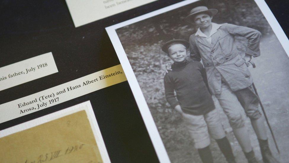 Eduard (left) and Hans Albert Einstein as children