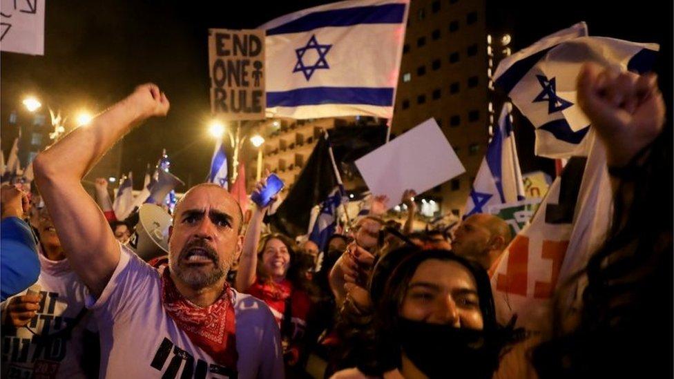 Anti-Netanyahu demonstration in Jerusalem (20/03/21)