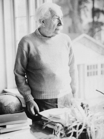 Albert Einstein as an old man