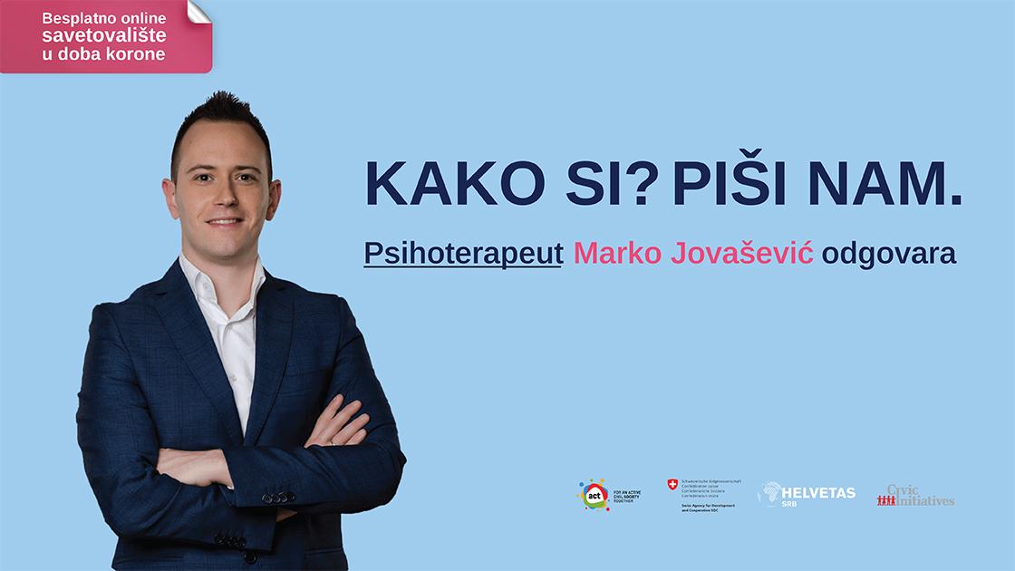 Psihološko savetovalište na portalu Danasa: Vi pitate, Marko Jovašević odgovara 16