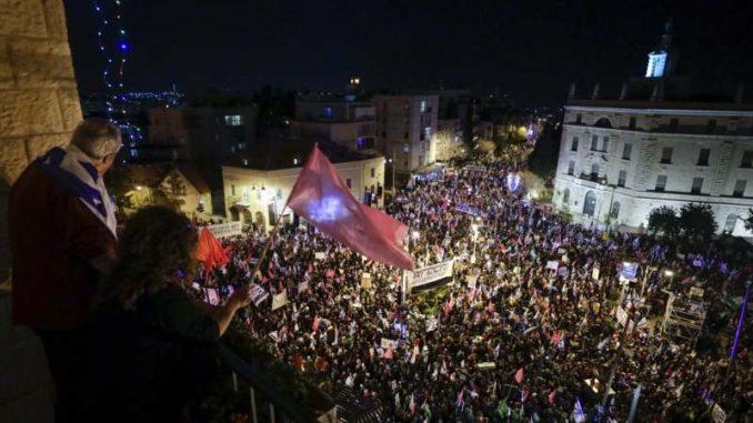 Hiljade ljudi na demonstracijama protiv Netanjahua tri dana pred izbore 1