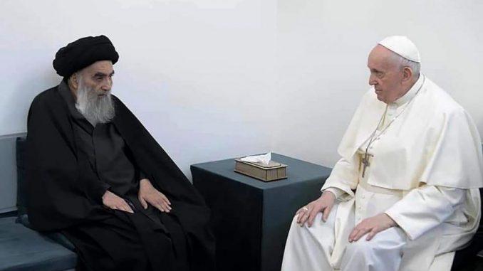 Papa Franja i ajatolah Al-Sistani poslali zajedničku poruku mirnog suživota muslimana i hrišćana 1