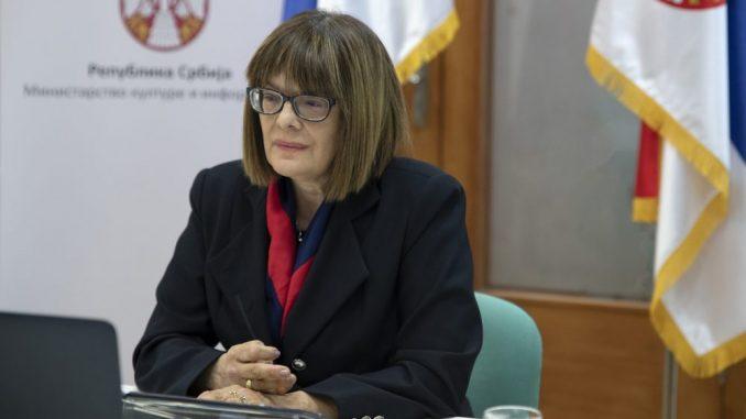 Gojković: Samo dve žene na čelu ministarstva kulture Srbije od uvođenja višestranačja 1