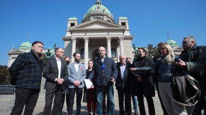 Predstavnici opozicije predali Skupštini platformu za poboljšanje izbornih uslova 4