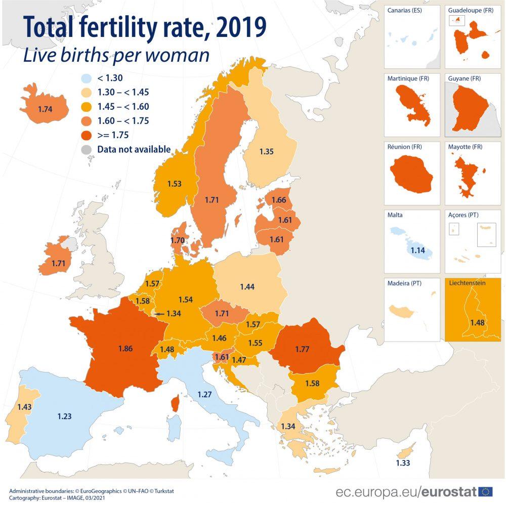 Nastavljen pad nataliteta u EU, stopa plodnosti najveća u Francuskoj 3