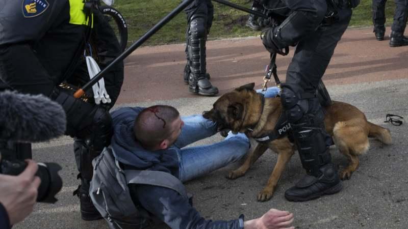 Holandska policija rasturila protest u Hagu uoči izbora 1