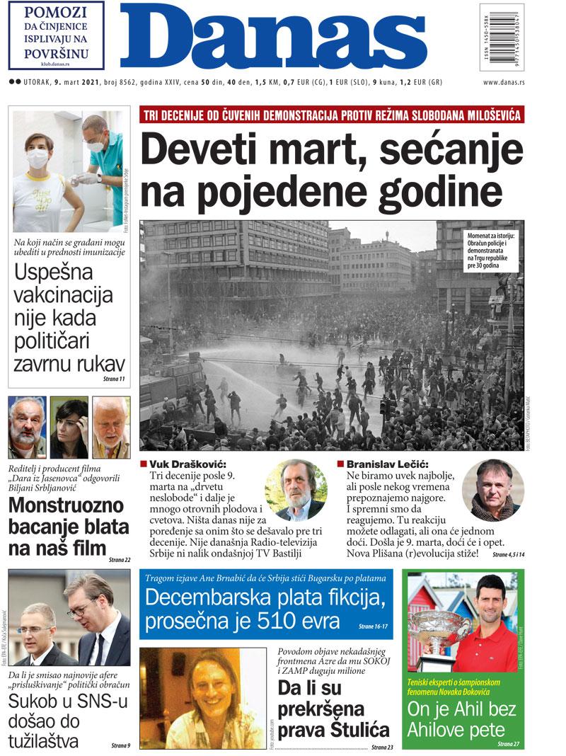 Naslovna za 9. mart 2021. 1
