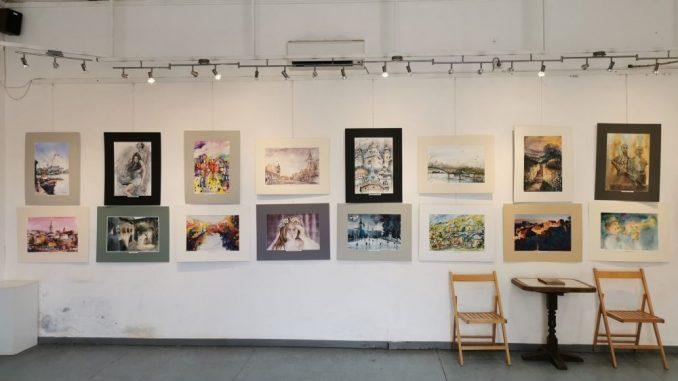 """Otvorena izložba akvarela pod nazivom """"Ta divna Srbija"""" u Petrovcu na Mlavi 5"""