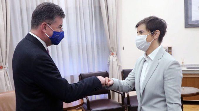 Lajčak i Brnabić razgovarali o sprovođenju obaveza dogovorenih u dijalogu Beograda i Prištine 3