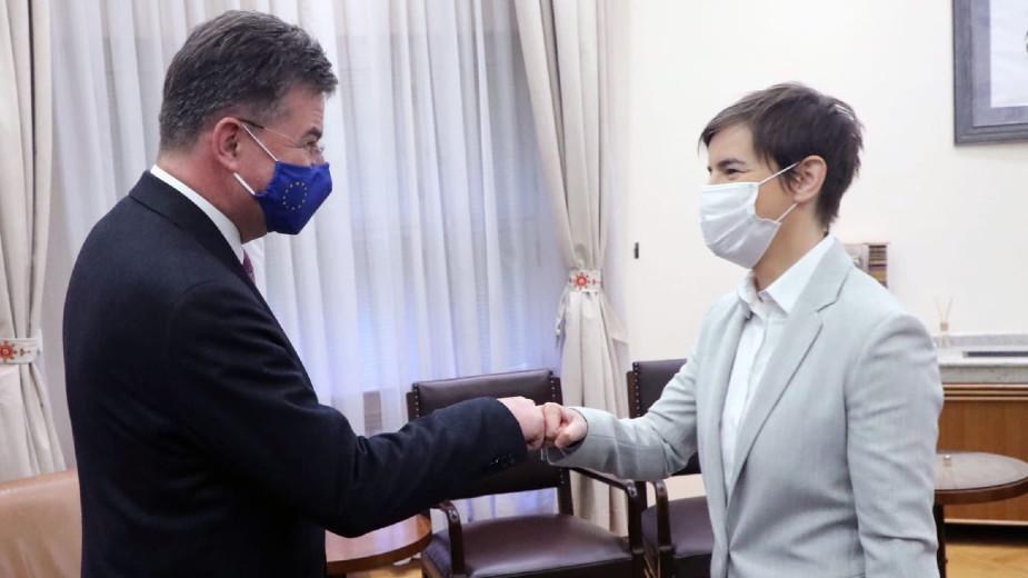 Lajčak i Brnabić razgovarali o sprovođenju obaveza dogovorenih u dijalogu Beograda i Prištine 1