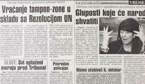"""Intervju Mire Marković od pre 20 godina: Nismo očekivali da će se 5. oktobra desiti """"išta sudbonosno"""" 5"""