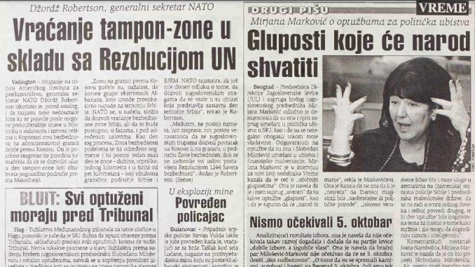 """Intervju Mire Marković od pre 20 godina: Nismo očekivali da će se 5. oktobra desiti """"išta sudbonosno"""" 6"""