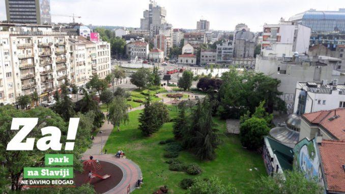 Ne davimo Beograd: Gradska vlast planira park na Slaviji da pretvori u gradilište 5