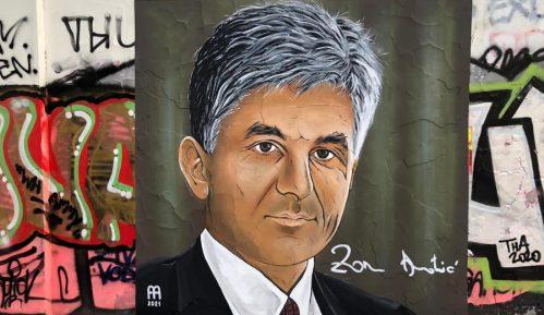 DS: Uništen mural Zoranu Đinđiću u Beogradu 12 sati od njegovog obnavljanja 4