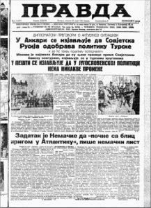 List Pravda za 25. mart 1941. godine