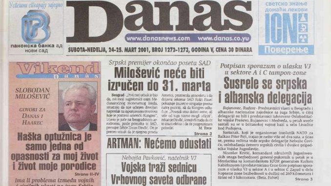 Poslednji intervju Slobodana Miloševića pre hapšenja za izraelski Haarec i Danas 4