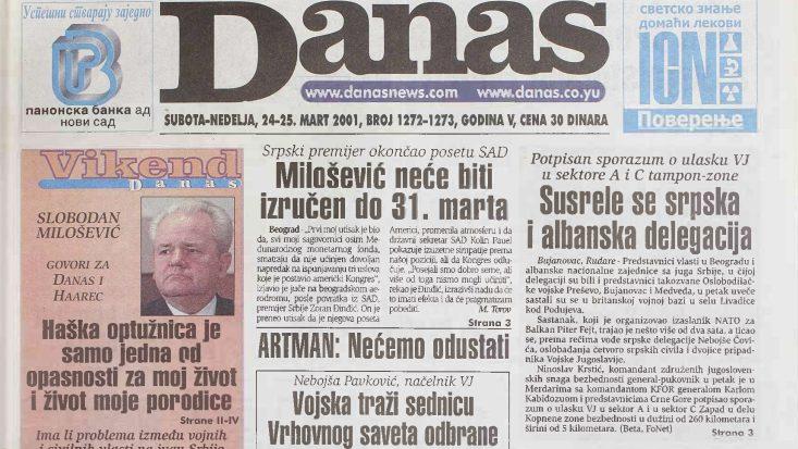 Poslednji intervju Slobodana Miloševića pre hapšenja za izraelski Haarec i Danas 1