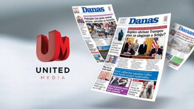 United Media preuzela list Danas 3