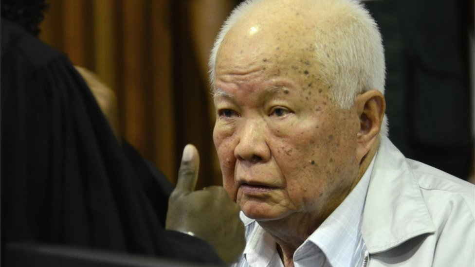 Khieu Samphan at the tribunal