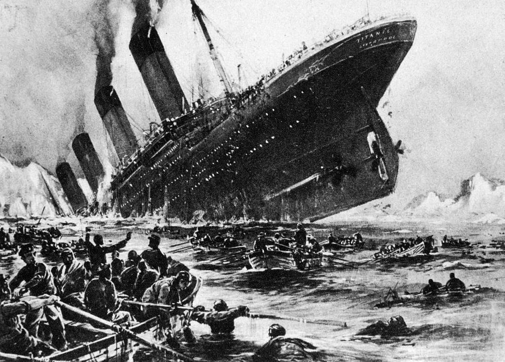 "katastrofa ""Titanika"", illюstraciя"