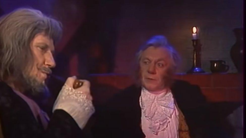 Bilbo (right) with Gandalf