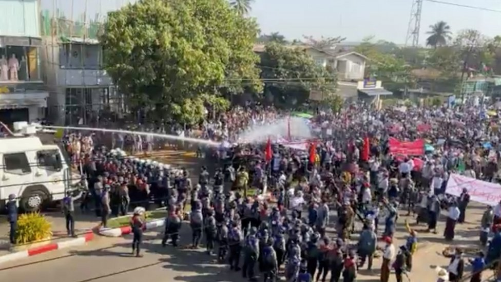 Protest in Bago - 9 February