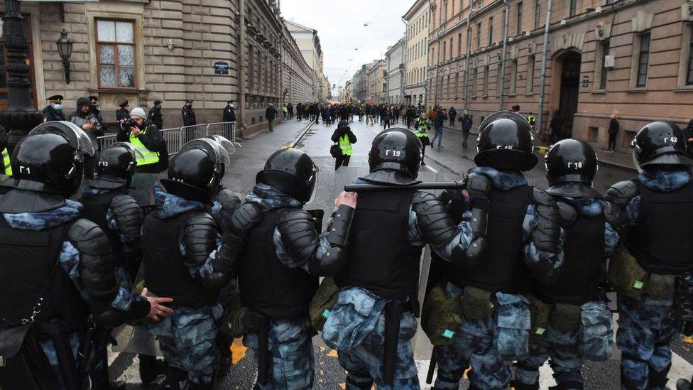 fotografija policije u moskvi