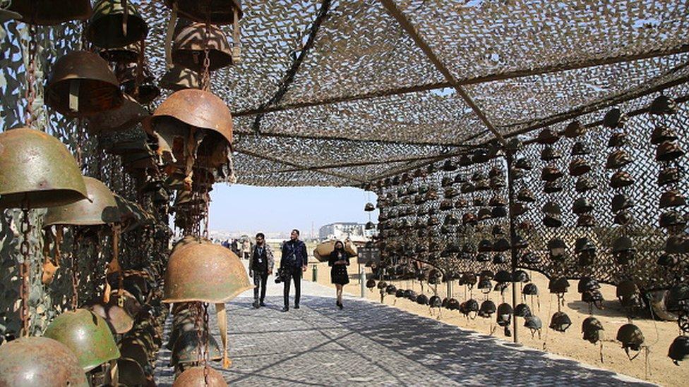 Šlemovi izloženi u muzeju