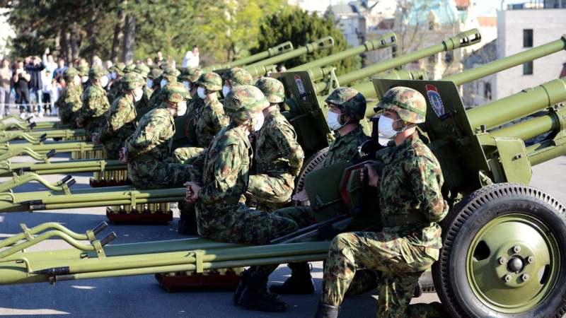 Počasna paljba na Kalemegdanu povodom Dana Vojske Srbije 1