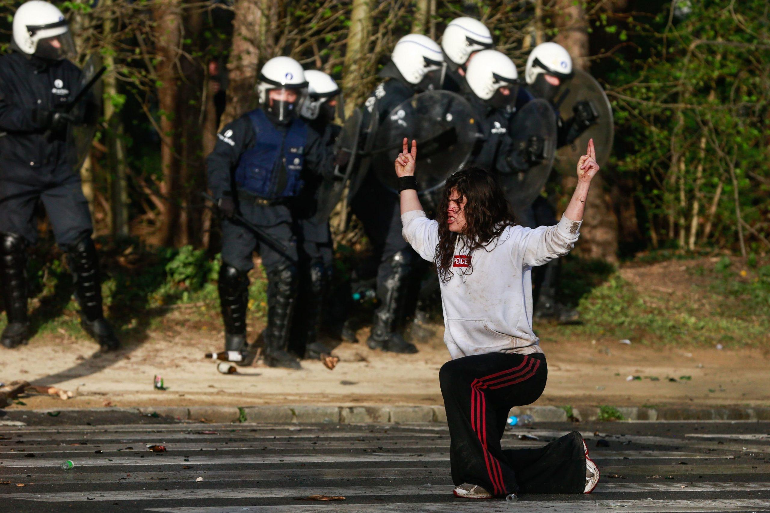 Brisel: Nemiri povodom zabrane okupljanja 1