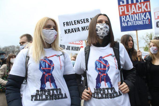 Frilenserima nije dozvoljen ulazak u Skupštinu Srbije 2