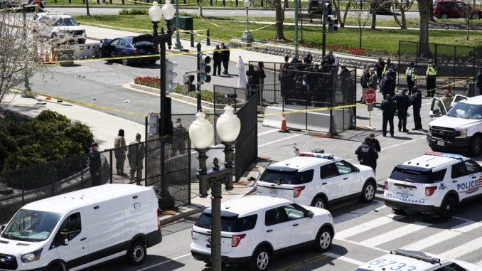 Auto udario u barikadu kod Kapitola, policajac poginuo, vozač ubijen 3