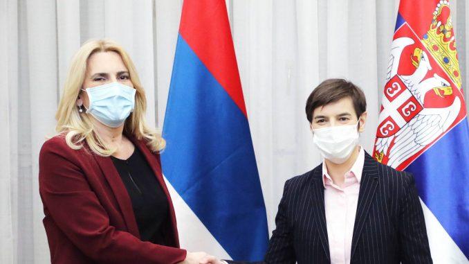 Premijerka Brnabić razgovarala sa predsednicom RS Cvijanović o saradnji po raznim pitanjima 1