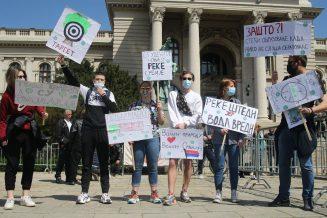 Održan Ekološki ustanak, organizatori traže obustavu seče šuma i emisiju na RTS (FOTO/VIDEO) 14