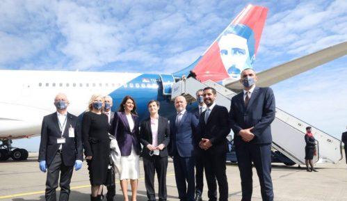 Ispraćen novi avion Er Srbije na letu do Njujorka (FOTO) 2