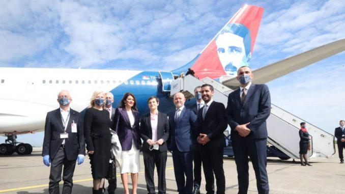 Ispraćen novi avion Er Srbije na letu do Njujorka (FOTO) 5