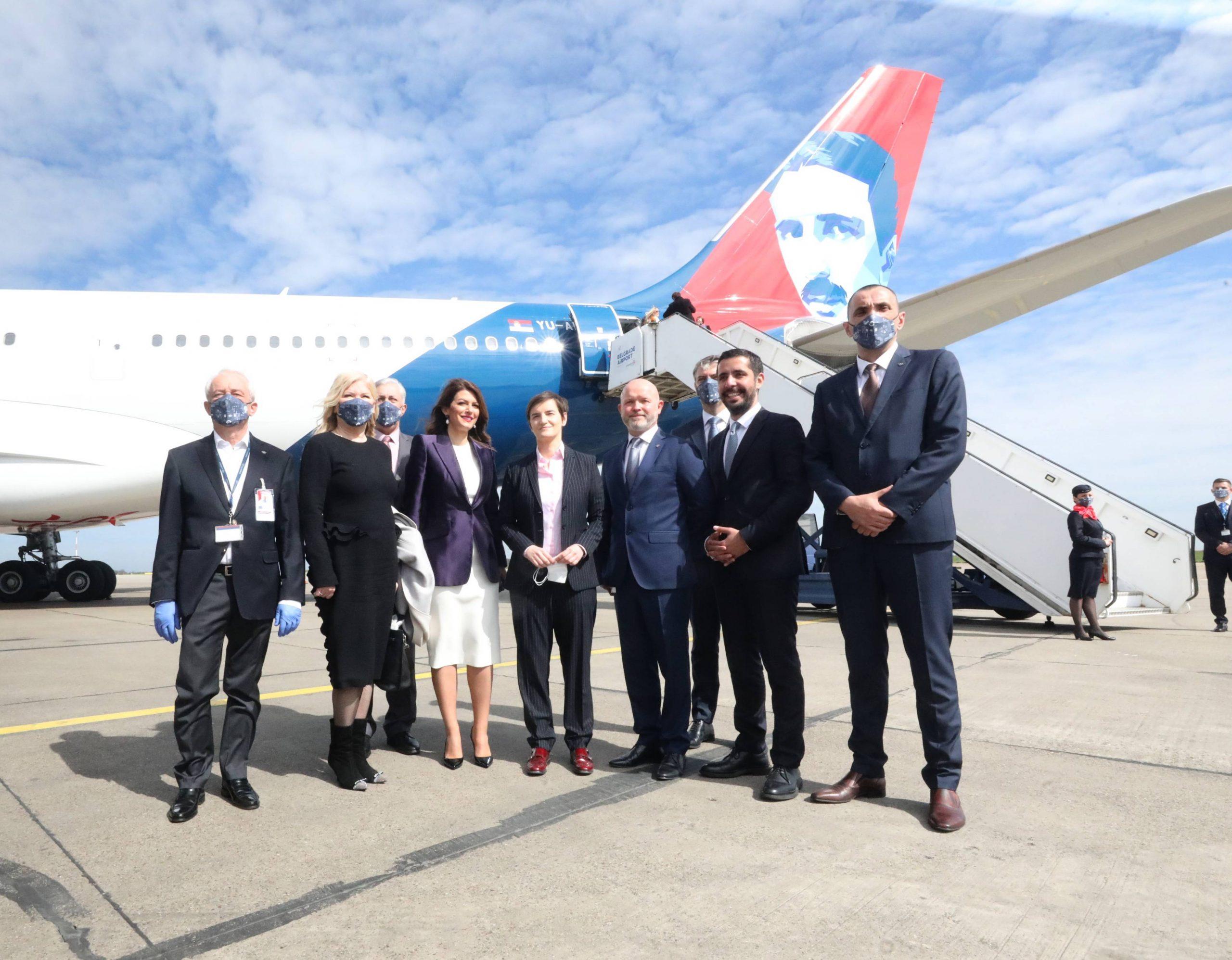 Ispraćen novi avion Er Srbije na letu do Njujorka (FOTO) 1