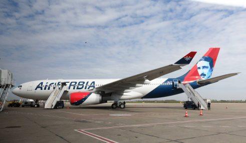 Ispraćen novi avion Er Srbije na letu do Njujorka (FOTO) 8