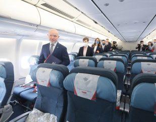 Ispraćen novi avion Er Srbije na letu do Njujorka (FOTO) 7