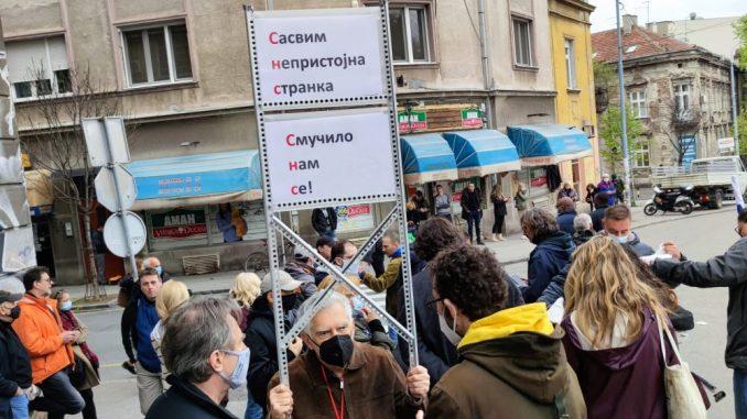NDMBG: Spomenik despotu Stefanu Lazareviću zapravo bilbord SNS 13