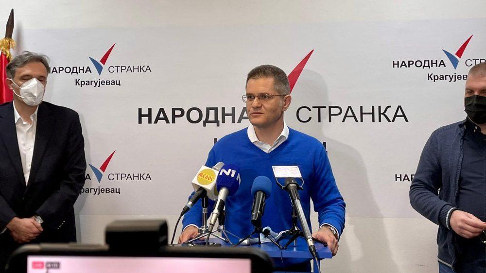 Jeremić: Nema svađe u opoziciji, Narodna stranka ne menja stav kako vetar duva 1
